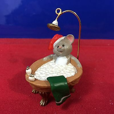 Hallmark Ornament Squeaky Clean Mouse 1988