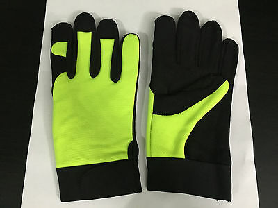 Red Camel Mechanic Gloves Extreme Heavy Duty Work Gloves Safety Wear Size LARGE