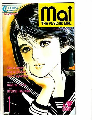 Lot Of 7 MAI The Psychic Girl Viz Eclipse Comic Books # 1 2 3 4 6 9 10 HJ6