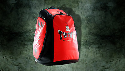 Twins Special MMA Martial Arts Boxing Nylon Back Pack Gym Shoulder Bag Red