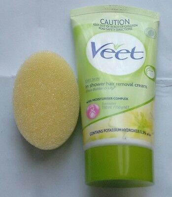 VEET IN SHOWER HAIR REMOVAL CREAM 150mL with sponge -3 different types available