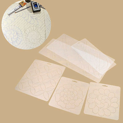 Plastic Transparent Quilting Stencil DIY Stitch Craft Coin Flower Sun Rainbow