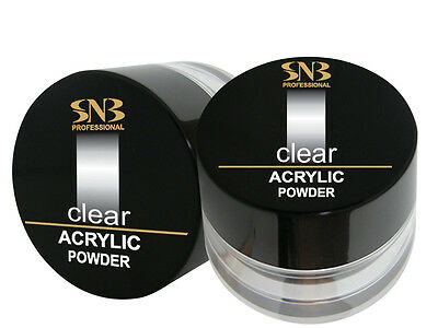 SNB Professional Acrylic Powder Manicure Nail Art Tips - Clear  35g / 1.23 oz