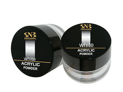 SNB Professional Acrylic Powder  Manicure Nail Art Tips - White  17g / 0.59 oz