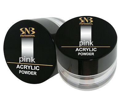 SNB Professional Acrylic Powder  Manicure Nail Art Tips - Pink  35g / 1.23oz