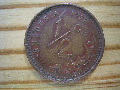 1970  Rhodesia 1/2 cent Coin Collectable