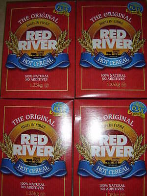 Original Red River Hot Cereal Canadian 4 Large Boxes Factory Sealed
