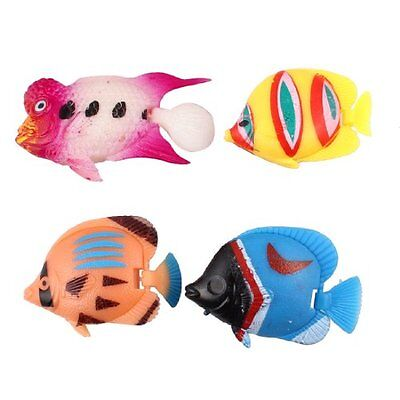 Sourcingmap Plastic Fish Tank Colorful Artificial Movable Tail Fish 4 in 1