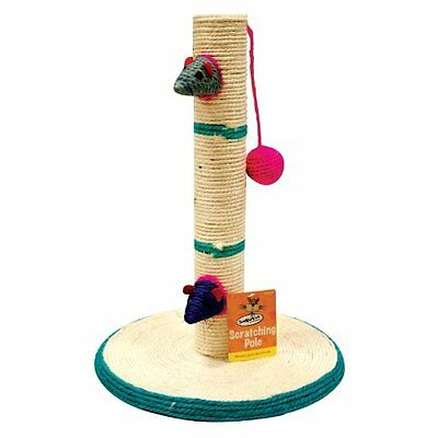 Cat Scratching Pole Scratch Post Activity Centre Play Toys Climbing Sisal Mouse