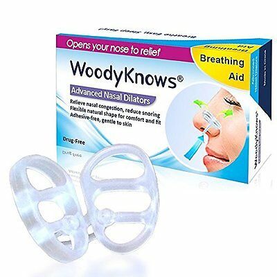 WoodyKnows Nasal Dilators / Nose Vents (New Model) - Breathing Aid for Nasal Con