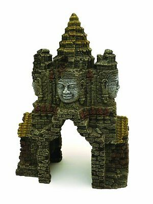 Rosewood Temple Gate Angkor Wat Aquarium Ornament