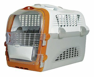 Catit Design Cat Cabrio Carrier Flight/ Airline Approved, Orange/ Grey/ White