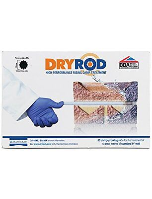 Dryrod Damp Proofing Rods - Box of 50 - Next Generation Rising Damp Treatment Fr