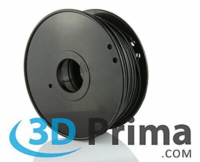 3D Prima TW-CON300BK Conductive ABS Filament, 3 mm, 1 kg Spool, Black