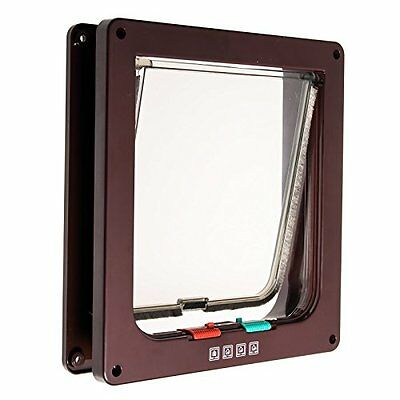 JZK 19.5*17 cm Cat dog flap pet flap with 4 locking options:prohibited in & out