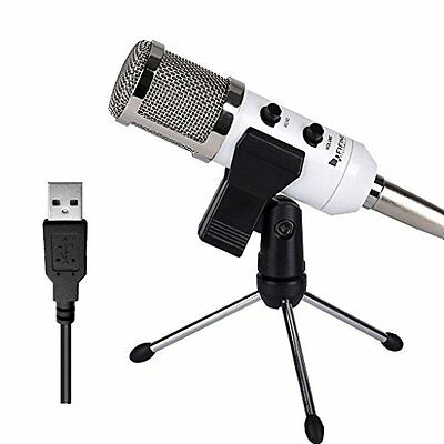 USB Microphone, FifineTM Plug & Play Condenser Microphone For PC/Computer(Window