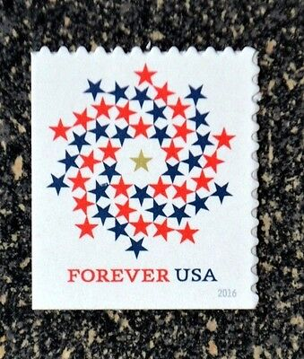 2016USA #5131 Forever Patriotic Spiral - Booklet Single  Mint NH  self adhesive