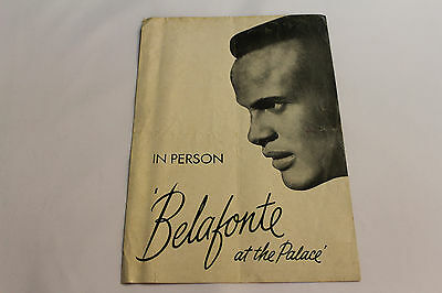 RARE Original Harry Belafonte in Person at the Palace Playbill 1959