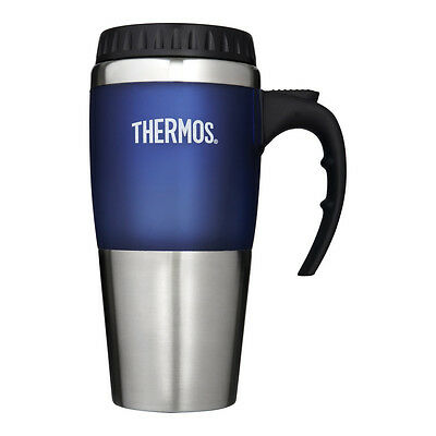 Thermos Thermocafe Voyager Travel Car Cup Mug - 420ml / 0.42L - BLUE - FREE P&P