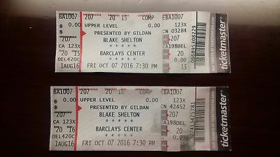 2 Concert Tickets- Blake Shelton (Barclays Center)