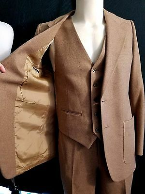 Vintage YVES Saint LAURENT French Tweed 3 Piece Suit 38 Jacket 30/28 Short Pants