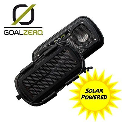 Shockproof Solar Bluetooth Camping Speaker in Black, Blue, Green