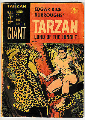 TARZAN LORD OF THE JUNGLE GIANT 1 Shot (VG+) Edgar Rice Burroughs 1965 Gold Key