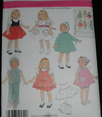 "Simplicity Doll Clothes Pattern 2454 16"" & 18"" like Bitty Baby American Girl"