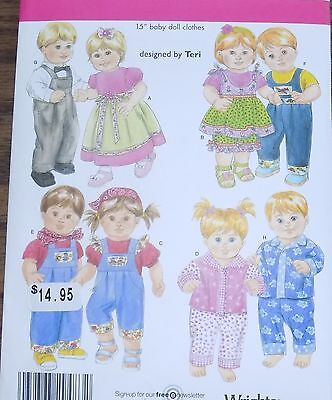 NEW 4268 Simplicity Pattern Boy Girl Bitty Baby Twins Clothes Dolls Ships Free