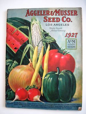 "Vintage 1927 ""Aggeler & Musser Seed Co"" Catalog w/ Colored Veggies On Cover*"