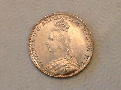 - Great Britain 1889 Victoria Silver Maundy Penny – Choice uncirculated