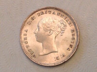 - Great Britain 1863  Victoria Silver Maundy Four Pence uncirculated