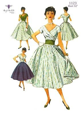 Vintage 1950's Sewing Pattern Skirt, Blouse & Cummerbund, Kimono Sleeves B 34""
