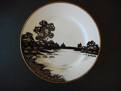 Landscape Scene Nippon hand painted china plate small