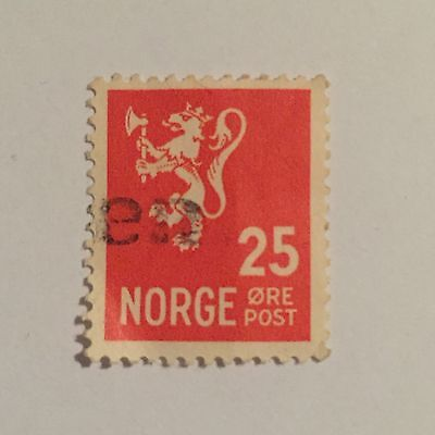 Norway 25 Ore Stamp Good Used