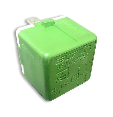 273-Peugeot 206 406 307 407 607 806 807 5-Pin Green Relay 9620725080 35A Omron