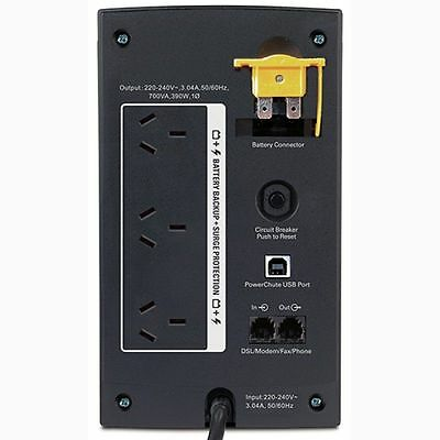 APC Power Saving Back UPS 700VA Uninterrupted Power Supply 3 Way Outlet Board