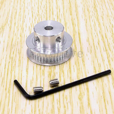 GT2-40T 6.5mm Wide 2mm Pitch Aluminum Timing Belt Pulley 40 Teeth For 3D Printer