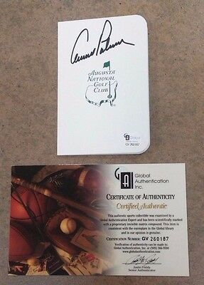 Arnold Palmer Autographed Masters Golf Scorecard - Mint - Certified Authentic