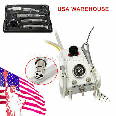 USA Stock Dental Air Turbine with High & Low Speed Handpiece kit 4 Hole