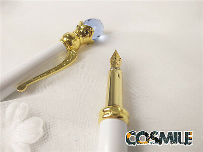 Sailor Moon Princess Serenity Miracle White Fountain Pen Rare  Handmade Limit Sa