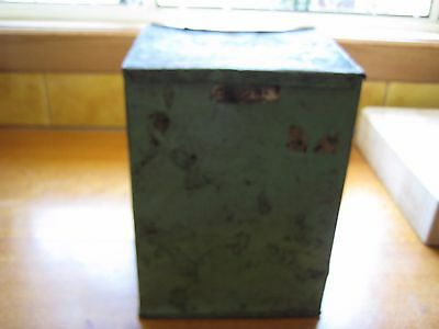 Collectable Vintage Old Hinged Biscuit Tin