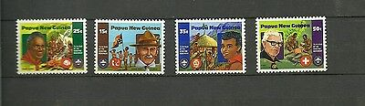 Papua New Guinea Scoutism Birthday Complete Set  Mnh 1982
