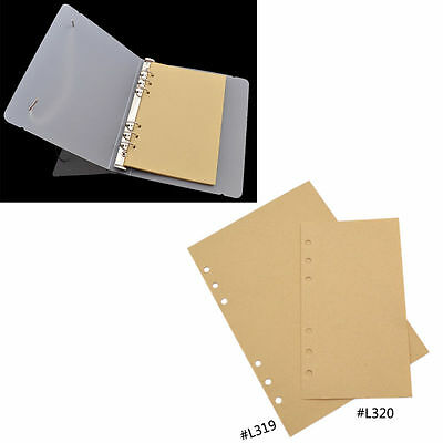 40 Sheets Lined Loose Leaf Inner Blank Kraft Paper Binder Ring Replacement New