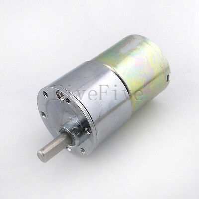 Reversible 37mm 12V DC Gear Box Cylinder High Torque Electric Motor Low noise