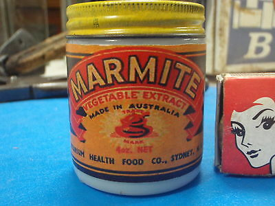 Milk Glass Marmite Jar,  4 ounces  ( Sanitarium Health Food)