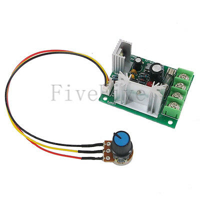 DC 10V-30V 120W PWM Motor Regulator Speed Control Switch with 200mm Wire & Fuse