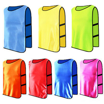Football Training Bibs Soccer Rugby Basketball Sports Vests 7 Colors 3 Sizes