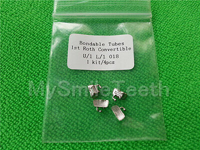 10 Set Dental Orthodontic Convertible Bondable 1st Molar Buccal Tubes Roth 018