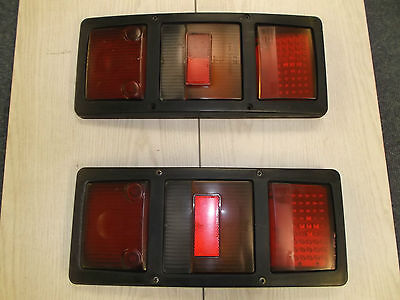 Pair of Bus Coach Rear Light Unit with LED section